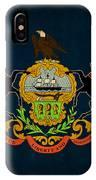 Pennsylvania State Flag Art On Worn Canvas IPhone Case
