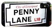 Penny Lane Sign City Of Liverpool England  IPhone Case
