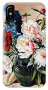 Peonies In Vase IPhone Case