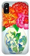 Peonys In Vase IPhone Case