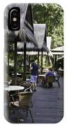People At The Breakfast Table In A Hotel In Sentosa In Singapore IPhone Case