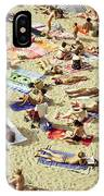 People In The Beach IPhone Case