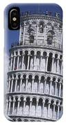 People On Top Of Leaning Tower Of Pisa IPhone Case