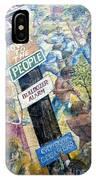 People's Wall Berkeley Ca 1977 IPhone Case