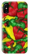 Peppers And Tomatos IPhone Case