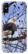 Perched Bald Eagle IPhone Case