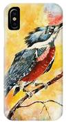 Perched Kingfisher IPhone Case