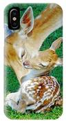 Pere David Deer And Fawn IPhone Case