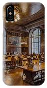 Periodical Room At The New York Public Library IPhone Case