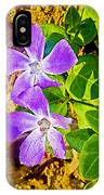 Periwinkles By West Point Inn On Mount Tamalpias-california  IPhone Case