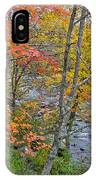 Perkiomen Creek - Perkiomenville Pa - Autumn Foliage IPhone Case