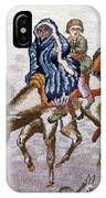 persian lady on horse with her baby              Close up photos by myself of Persian antique carpet IPhone Case
