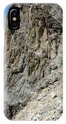 Person Walking Up Steep Stony IPhone Case