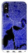 Perth Street Map - Perth Australia Road Map Art On Colored Backg IPhone Case