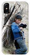 Peruvian Boy Gathers Wood IPhone Case