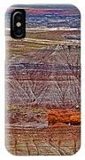 Petrified Log On Overlook Near Blue Mesa In Petrified Forest National Park-arizona   IPhone Case