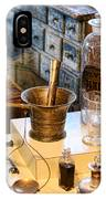 Pharmacist - Brass Mortar And Pestle IPhone Case