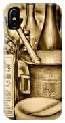 Pharmacy - Snake Oil -  Black And White IPhone Case