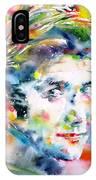 Phil Ochs - Watercolor Portrait IPhone Case