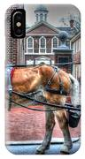 Philadelphia Carpenter's Hall Front View And Horse IPhone Case