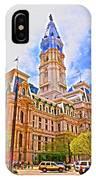 Philadelphia City Hall - Hdr IPhone Case