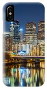 Philadelphia Cityscape Panorama By Night IPhone Case