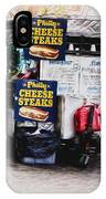 Philly Cheese Steak Cart IPhone Case