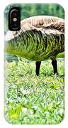 Philly Goose In The Grass IPhone Case