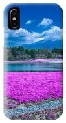 Phlox And Mt. Fuji IPhone Case