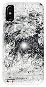 Photo Homage William Klein Street Lamp Night  Number 1 Aberdeen South Dakota Polaroid 1964-2009 IPhone Case