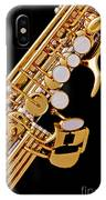 Photograph Of A Soprano Saxophone Color 3355.02 IPhone Case