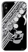 Photograph Of A Soprano Saxophone Sepia 3355.01 IPhone Case