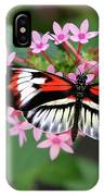 Piano Key Butterfly On Pink Penta IPhone Case