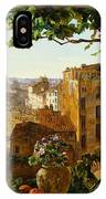 Piazza Barberini In Rome IPhone Case