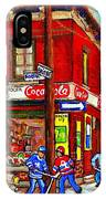 Piche's Grocery Store Bridge Street And Forfar Goosevillage Montreal Memories By Carole Spandau IPhone Case