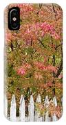 Picket Fence Fall IPhone Case