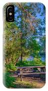 Picnic By The Methow River IPhone Case