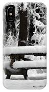 Picnic Table In The Snow IPhone Case