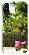 Picnic Under The Palms IPhone Case