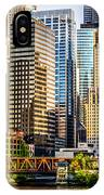 Picture Of Chicago Buildings At Lake Street Bridge IPhone Case