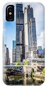 Picture Of Chicago Buildings With Willis-sears Tower IPhone Case