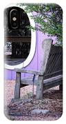 Picture Perfect Garden Bench IPhone Case