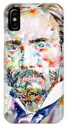 Pierre-auguste Renoir Watercolor Portrait IPhone Case
