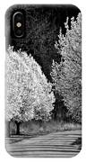 Pigeon Mountain Dogwoods In Black And White IPhone Case