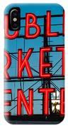 Pike Place Public Market Seattle IPhone Case