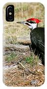 Pileated Woodpecker Forest Floor IPhone Case