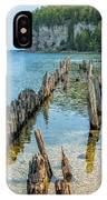 Pilings On Lake Michigan IPhone Case