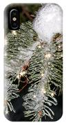 Pine Branch With Ice And Stars IPhone Case