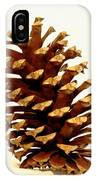 Pine Cone On White IPhone Case