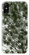 Pine Tree Branches Covered With Snow IPhone Case
